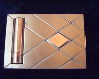 Bourjois Evening in Paris gold tone compact
