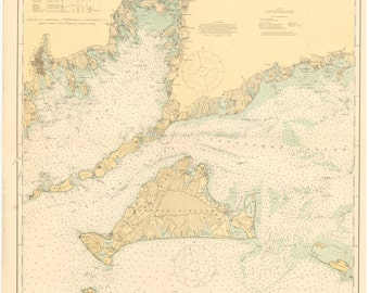 Buzzards Bay & Martha's Vineyard Map 1920