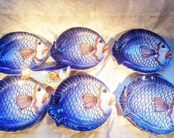 1950 French Riviera fish Service to fish – Fish service VALLAURIS VALLAURIS
