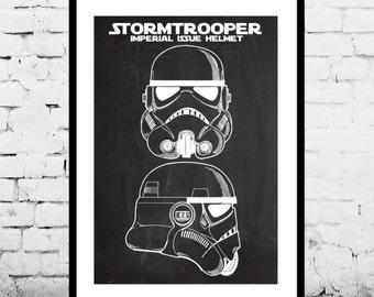 Star Wars Stormtrooper Poster, Star Wars Stormtrooper Patent, Star Wars Stormtrooper Print, Star Wars Stormtrooper Decor, Stormtrooper Art