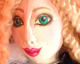 OoAK handmade Darling Doll to delight you or someone you really love.