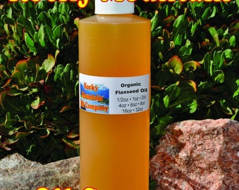 Premium Organic Flaxseed Oil - Cold Pressed