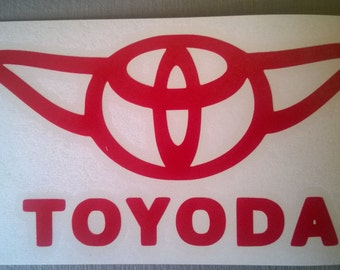 Toyoda (Star Wars Toyota Parody) - Vinyl Decal Sticker