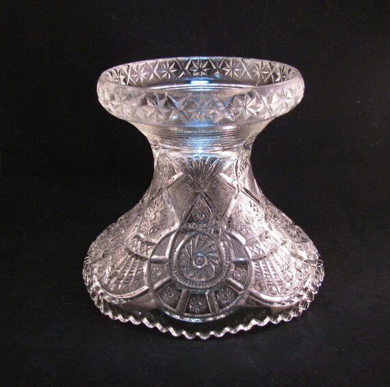 Broken Glass Vase: Beautiful EAPG Imperial Broken Arches Pressed By