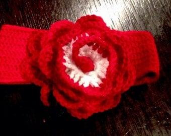 Hand Crocheted Big Flower Headband