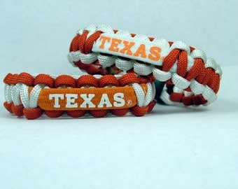 Texas Longhorns NCAA Paracord Bracelet