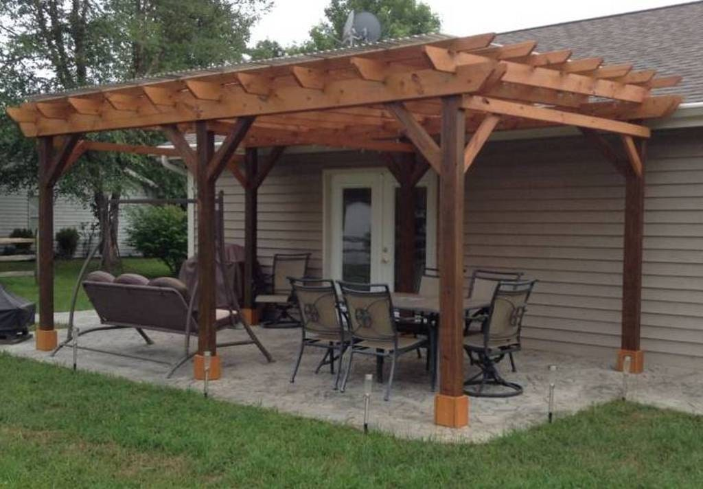 Covered pergola plans 12x24 39 outside patio wood design for Gazebo cost to build