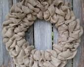 Burlap Wreath, Plain Burlap Wreath, Burlap Door Decor, Wreath for Door, Burlap Decor, Wreaths for Door, Burlap Wreaths for the Door, Burlap