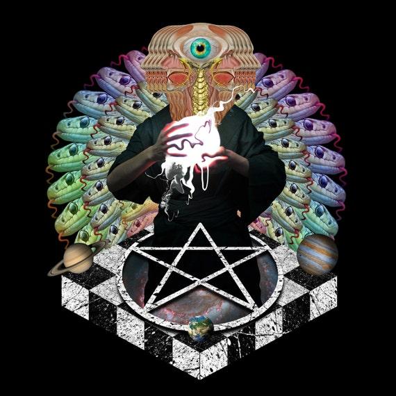 TEA022:The Calms of Death_Surreal, Metaphysical, Pentagram, Snakes, Masonic, Zodiac, Third Eye, Astrology, Saturn, Earth, Pineal, Jupiter