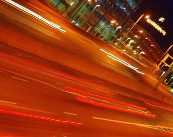 "Highway Lights - 12"" X 18"" Giclee Print"