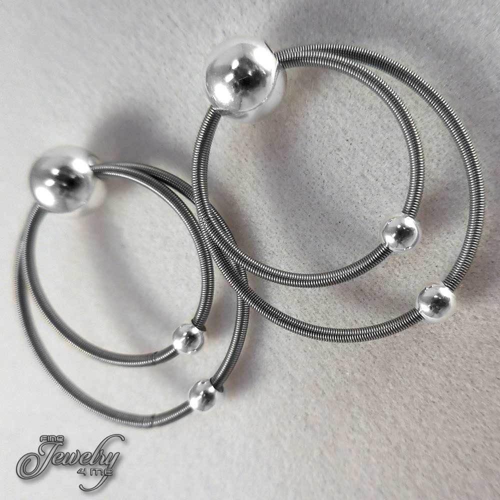 stainless steel double hoop earrings. Black Bedroom Furniture Sets. Home Design Ideas