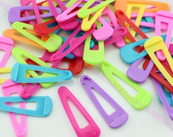50pcs Plastic Hair Snap Cover Candy Plastic hair Clip Cover 51*17mm fit for 50mm water drop hair snap clips-QT0015