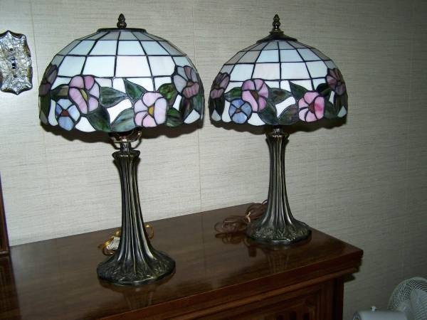 Dale tiffany table lamps - Authentic Vintage Tiffany Lamp Stained By Jewelryandglassworks