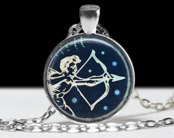 Sagattarius Jewelry Zodiac Necklace Wearable Art Pendant