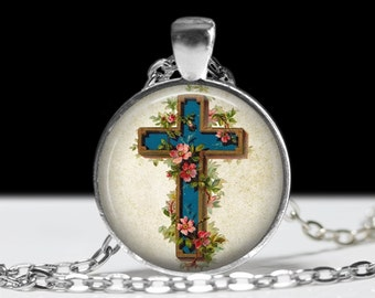 Cross Jewelry Pendant Wearable Art Religious Necklace Cross Pendant Charm