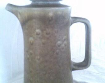 Coffee Pot Stoneware Temuka Pottery