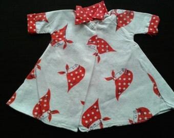 Vintage 1950's Doll's Dress