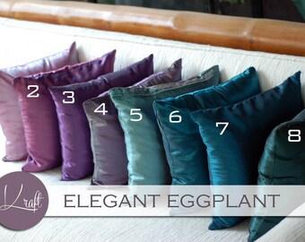 Purple Silk Pillow Etsy - Purple decorative bedroom pillows