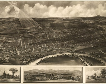 24x36 Poster; Map Of Concord New Hampshire 1899