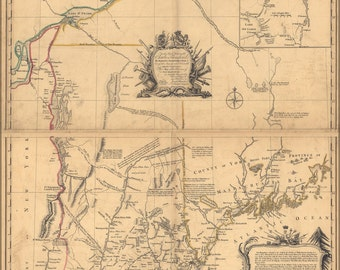 24x36 Poster; Map Of His Majestys Province New Hampshire 1768