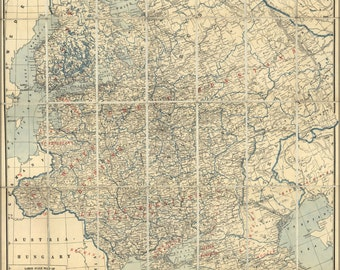 24x36 Poster; Map Of Western Russia 1918