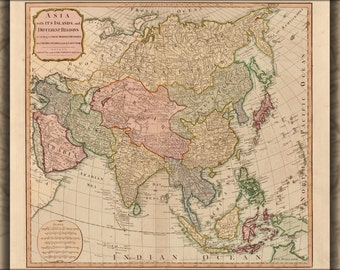 24x36 Poster; Map Of Asia 1799 P2