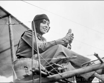 24x36 Poster; Helene Dutrieu C1911 Aviator
