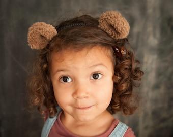 Headband with bear ears