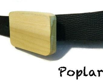 Wooden Belt Buckle - Poplar