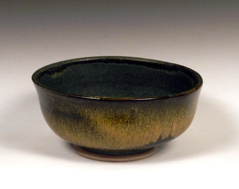 Green and Yellow Ceramic Bowl