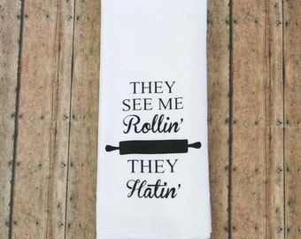 Song Lyric Tea Towels,  Funny Tea Towels, Foodie Gifts