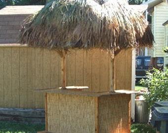 TIKI BAR - 6' x 4'  Reed Bamboo Tiki Kev Tiki Bar