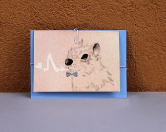 Anniversary card, Greeting card, Card for the loved ones, Squirrel drawing, Animal illustration