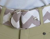 EVI - 1.5-inch Premium D-Ring Belt - Gray and White Chevron - Size Small, Makes a great stocking stuffer!