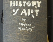 "Stephen Maniatty (1910 - 1984) ""History of Art"" student work. Scatches, cliparts, handwriting, etc. Circa late 1910's - early 1920's."