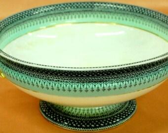 "Royal Wocester 1880 Handled bowl 4 1/2"" tall, 10"" diameter"