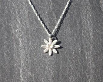 Flower necklace/Pendant, fine silver, floral necklace, silver flower, silver necklace