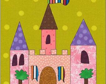 Castle Quilt Block - Fairy Castle - Instant Download - House Pattern - Block Pattern - Quilt Pattern - Quilt Block - Block Pattern