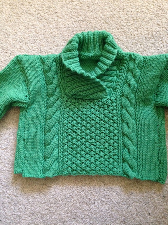 Knitting Patterns For Babies Jumpers : Hand knit/ knitted baby jumper for a girl or by Hannahlouiseknits