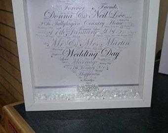 Wedding Word Art Heart