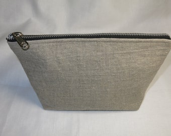 Mica - Linen Toiletry Bag, Cosmetic Pouch, Natural Rustic Linen cosmetic Pouch, Eco Friendly Pouch, Dopp Kit