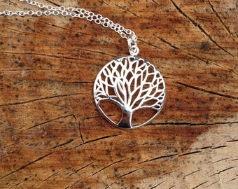 Sterling Silver Tree of Life Necklace, Tree of Life Necklace