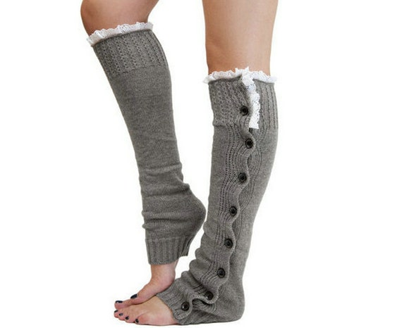 Knitting Pattern For Thigh High Leg Warmers : Items similar to Womens Leg Warmers women s accessories ...