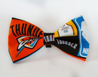 OKC Thunder Bow Tie | Bow Tie for Men | For Him | Bowtie | Self Tie | Dog Bow Tie | Mens Bow Tie | Boys Bow Tie | NBA | Sports Bow Tie