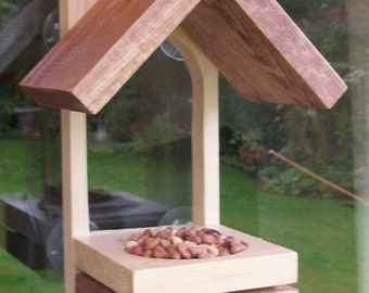 Window Bird Feeder In Wood