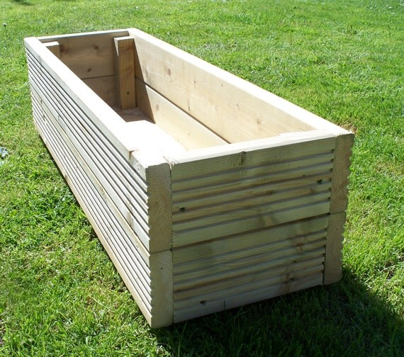 Made To Measure Bespoke Wooden Planters: Large Decking Wooden Garden Planter 800 1000 Or By Bogglewood