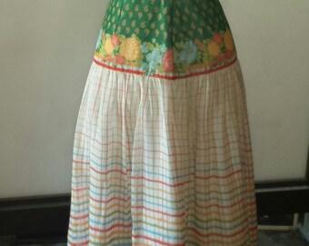 women's vintage prairie skirt sz 6/8
