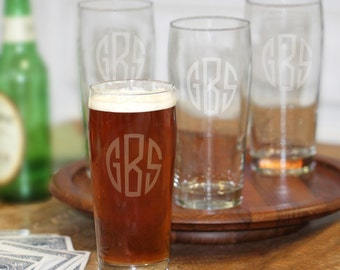 Craft Pub Glasses (set of 4) - (g183-1102) - Free Personalization