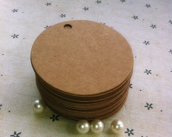 5.5cm x 5.5cm  100 /200/500pcs round tag blank kraft paper Tags Die cut tags tags gift tag, party   wedding   wine   shower tags