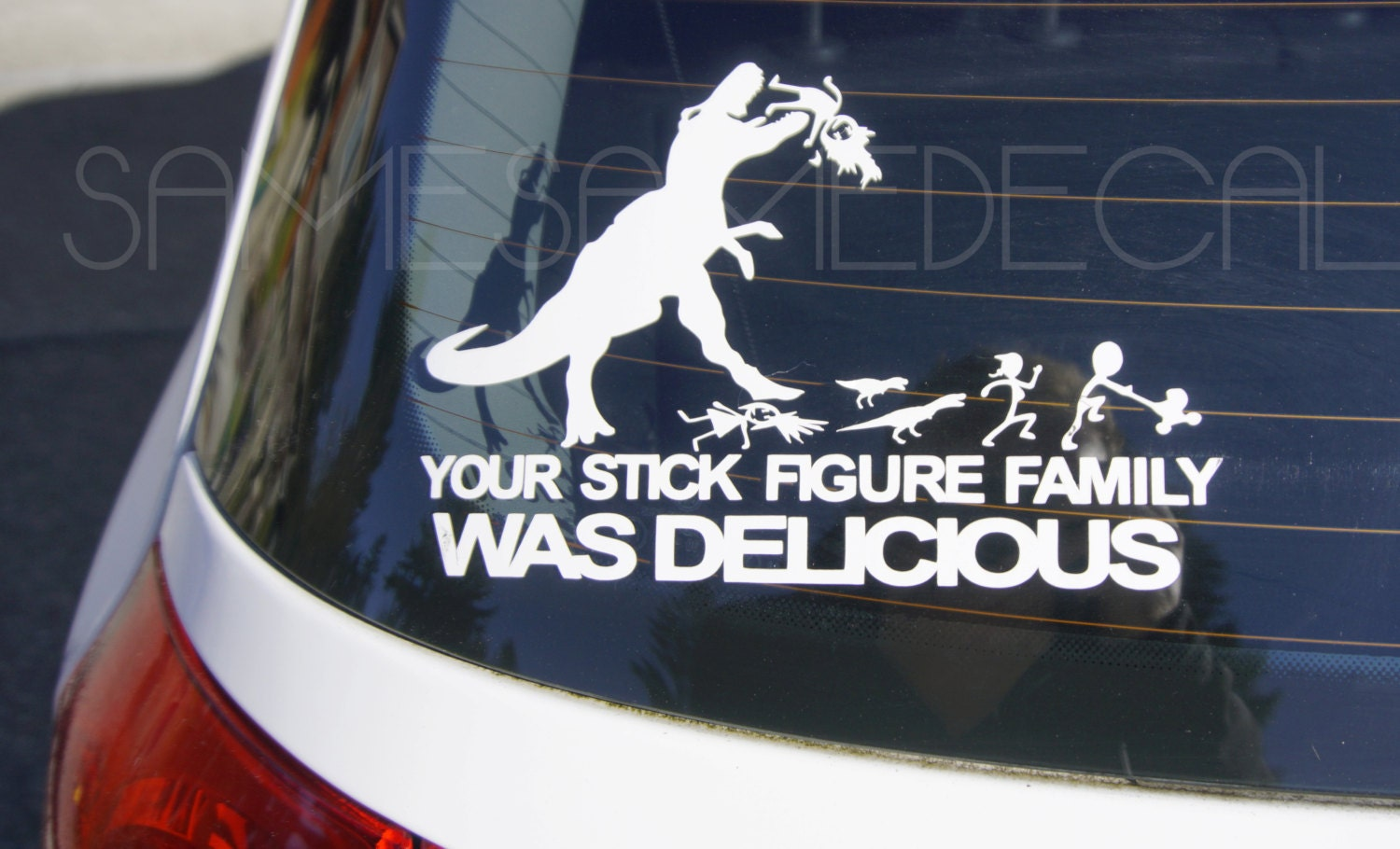 Your Stick Family Was Delicious Sticker Mttaborlegacycom - Vinyl decals for your caramazoncom your stick family was delicious trex vinyl decal